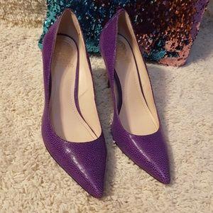 Shoes - Vince Camuto Purple Pebbled Heels Size 9.5